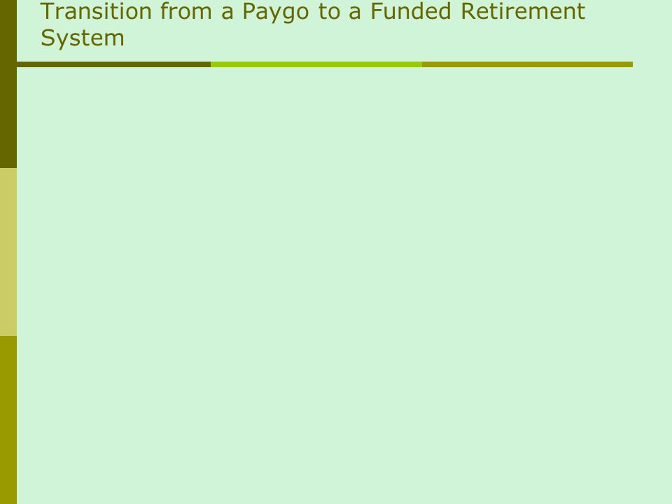 Transition from a Paygo to a Funded Retirement System