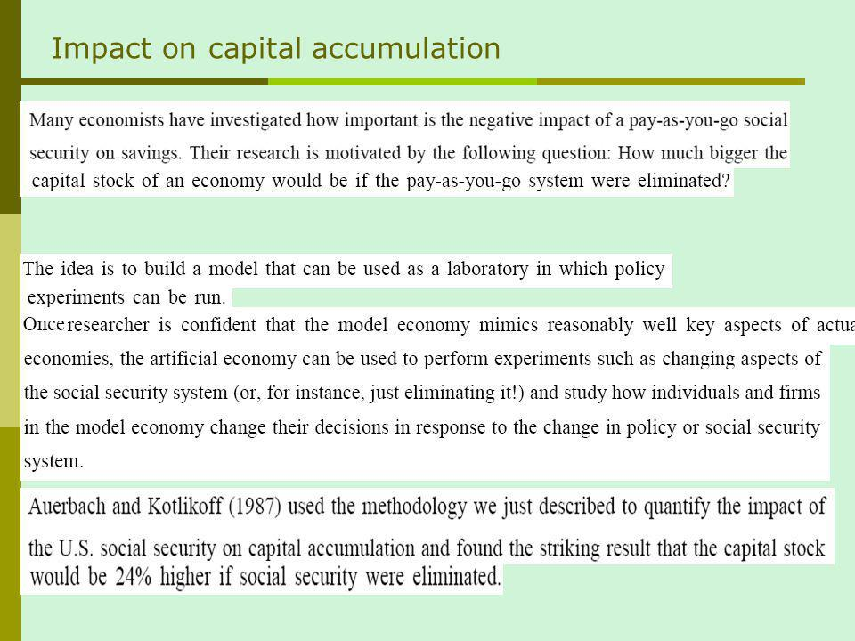 Impact on capital accumulation