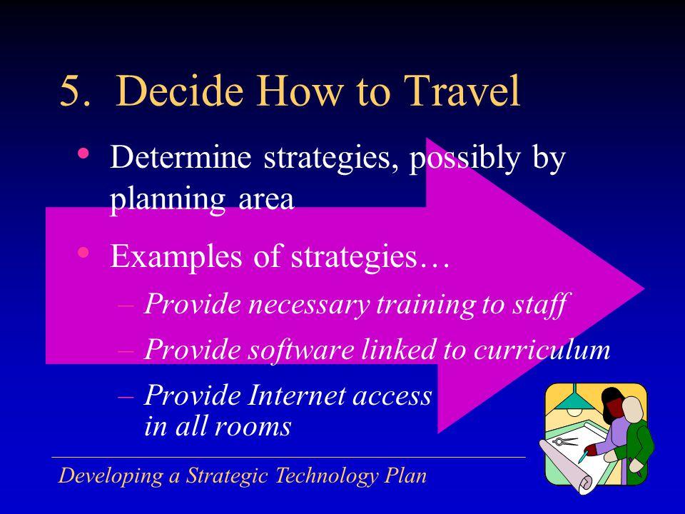 Developing a Strategic Technology Plan 5.