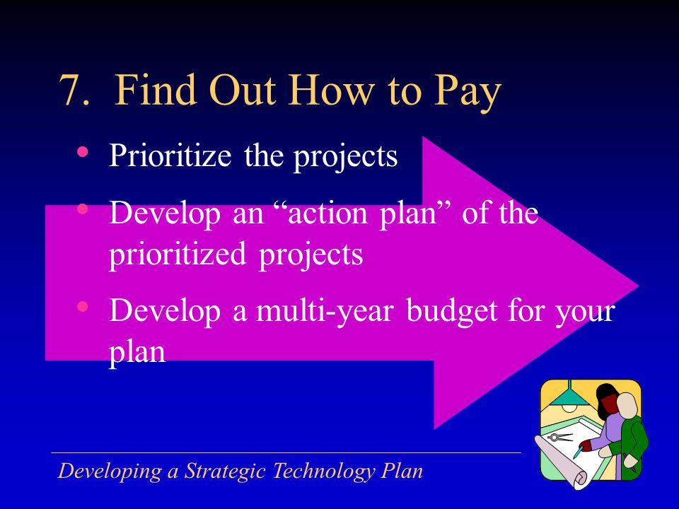 Developing a Strategic Technology Plan 7.