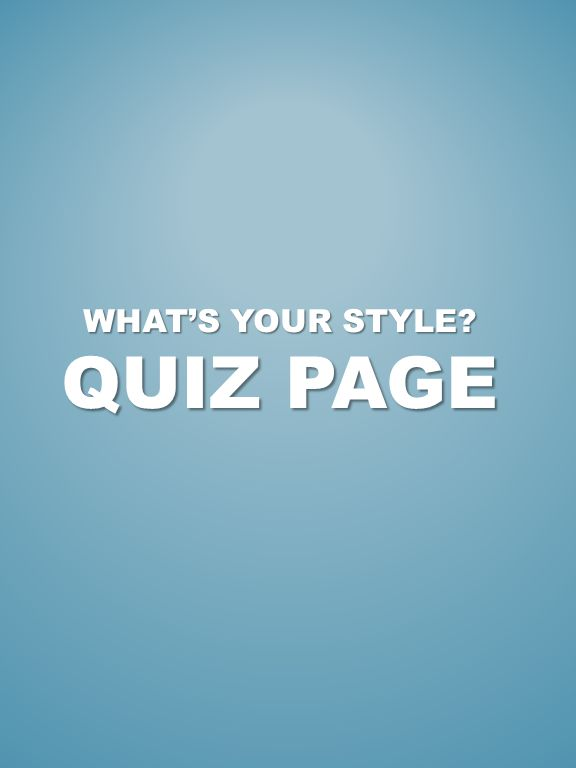 WHATS YOUR STYLE QUIZ PAGE