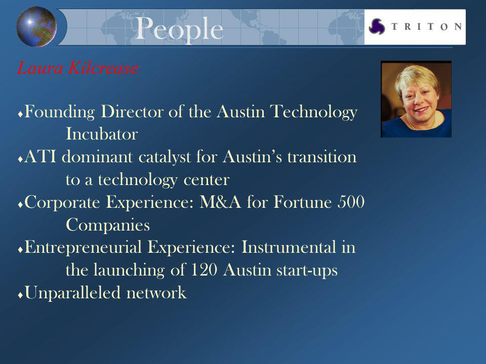 Founding Director of the Austin Technology Incubator ATI dominant catalyst for Austins transition to a technology center Corporate Experience: M&A for