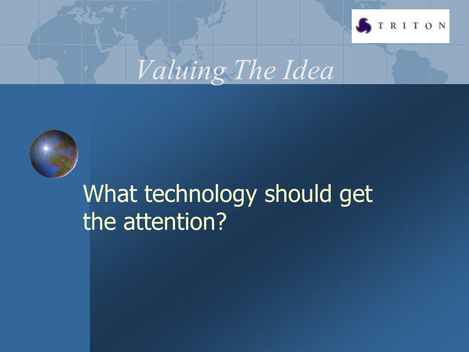 Valuing The Idea What technology should get the attention