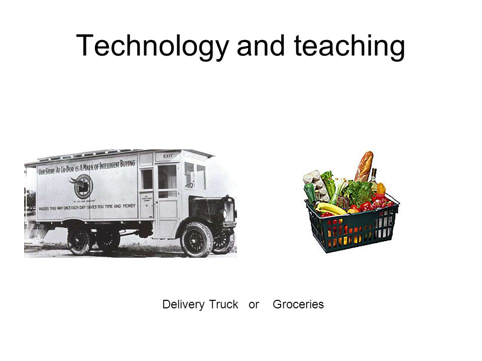 Technology and teaching Explanations for change Technological determinism