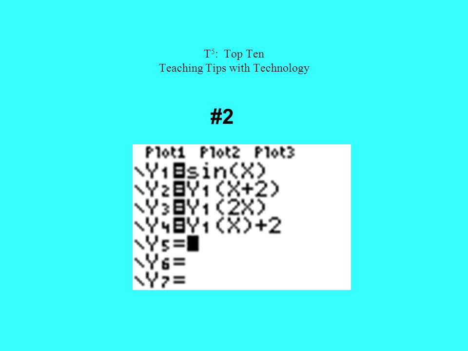 T 5 : Top Ten Teaching Tips with Technology #2