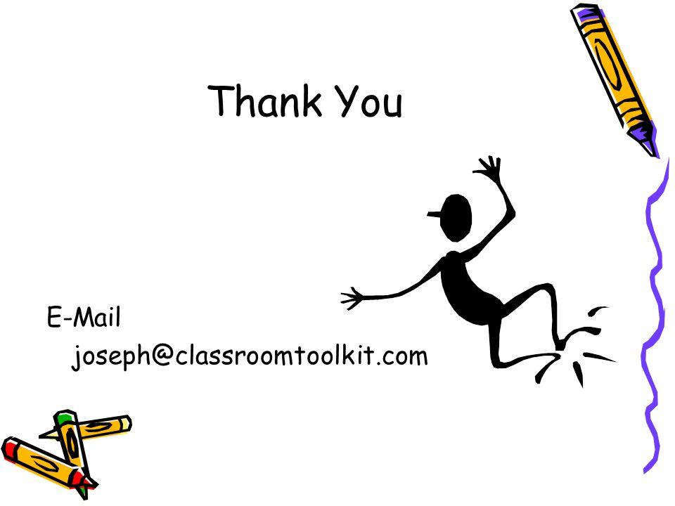 Thank You E-Mail joseph@classroomtoolkit.com