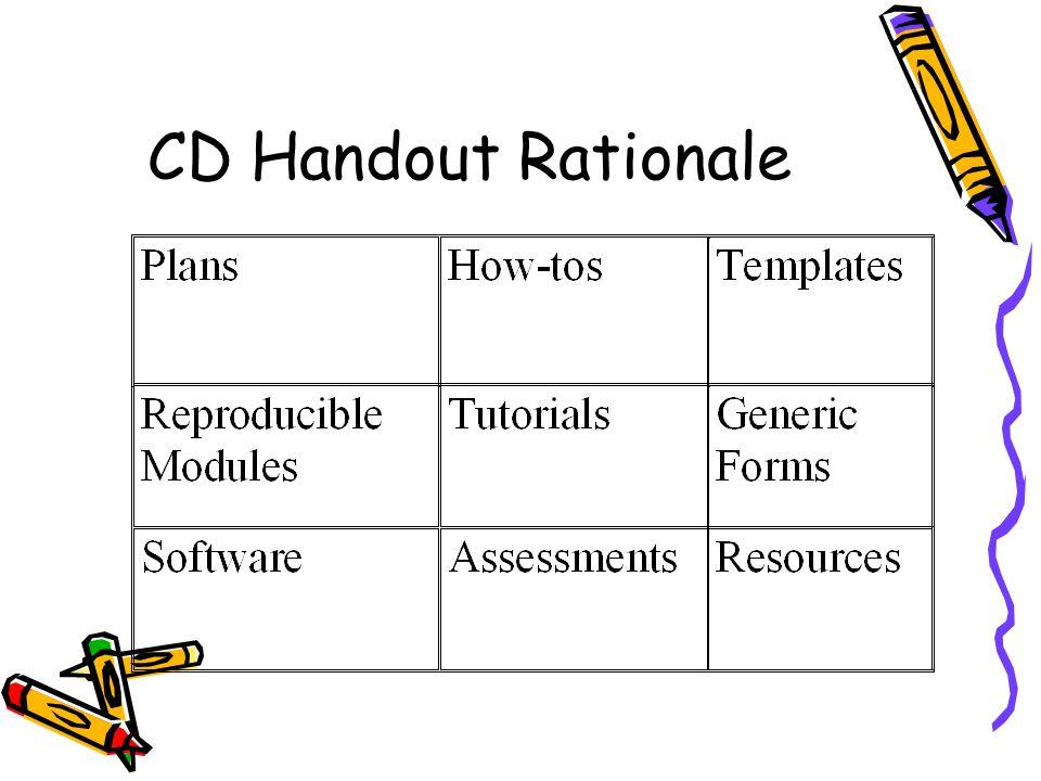 CD Handout Rationale