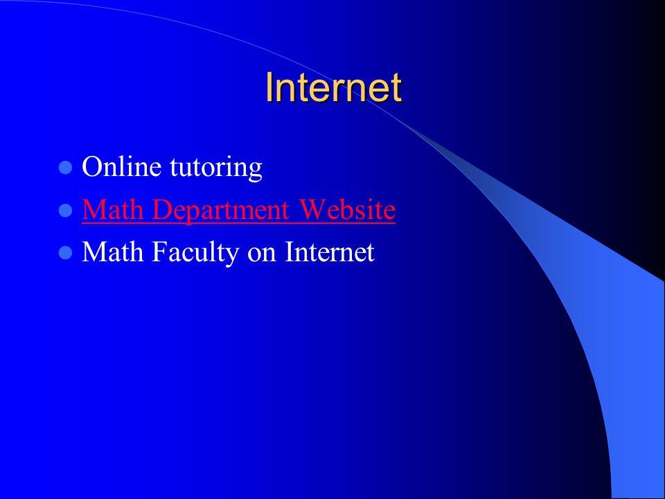 Software for Tutorial Cogito Software (Algebra, Pre-Calc, Calc) The MathServ Calculus Toolkit
