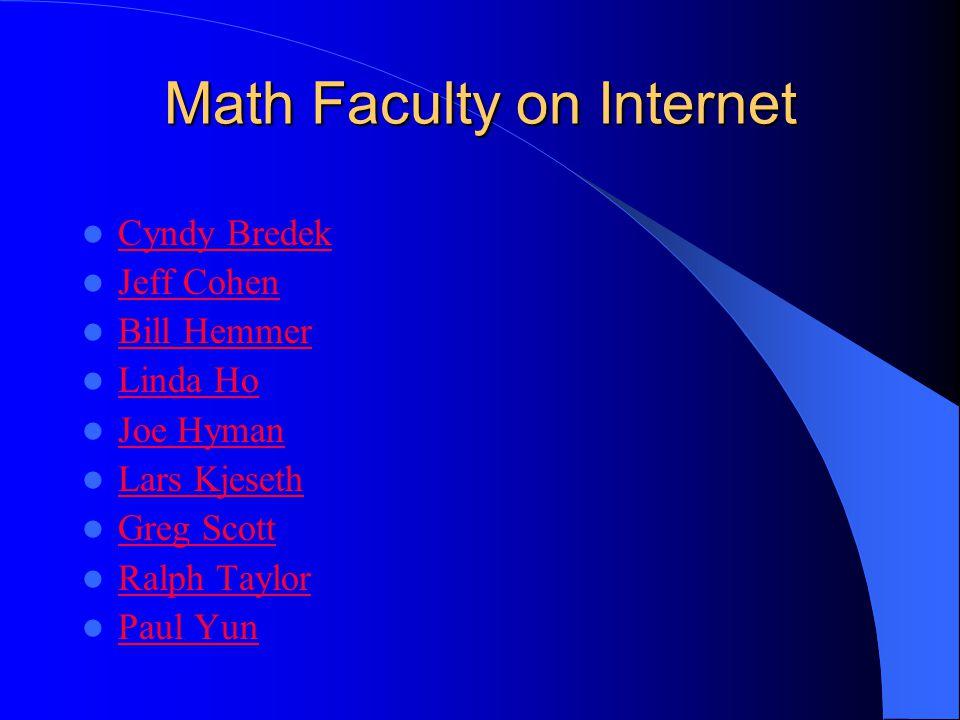 Internet Online tutoring Math Department Website Math Faculty on Internet
