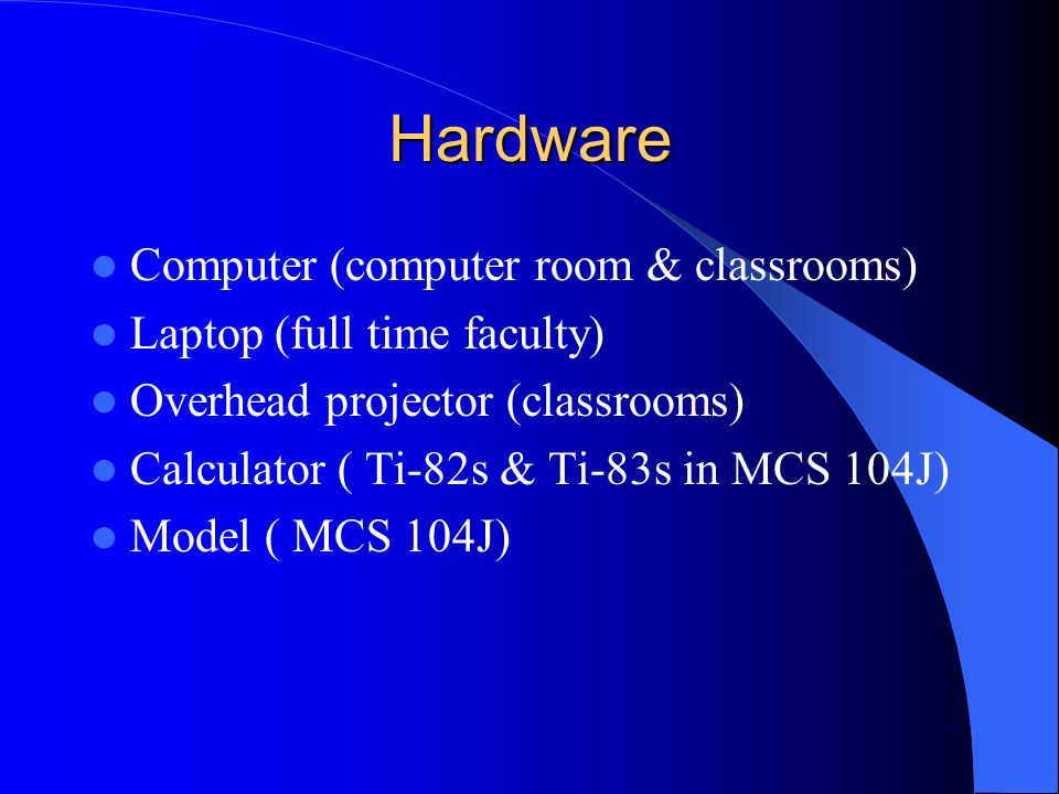 Three areas of technology Hardware Software Internet