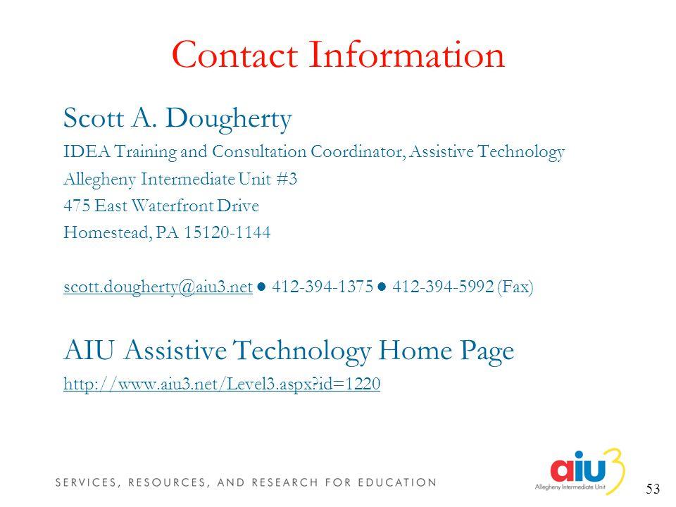 53 Contact Information Scott A.