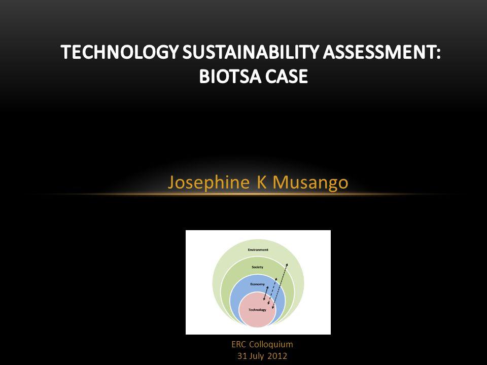 Josephine K Musango ERC Colloquium 31 July 2012