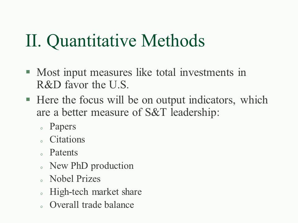 Sample WTEC Findings