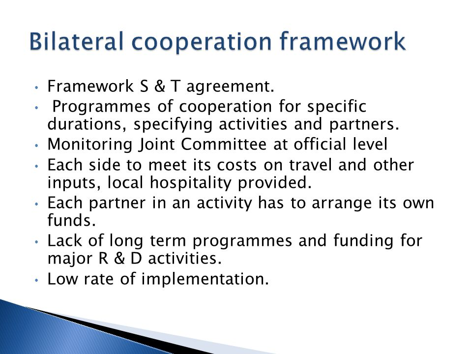 Framework S & T agreement.