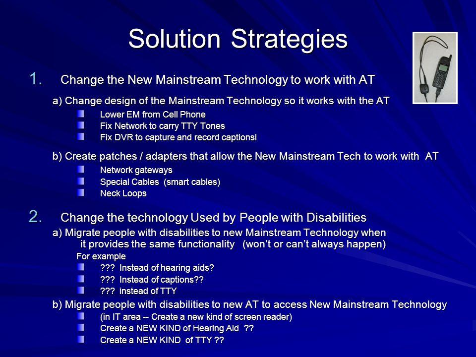 Solution Strategies 1.