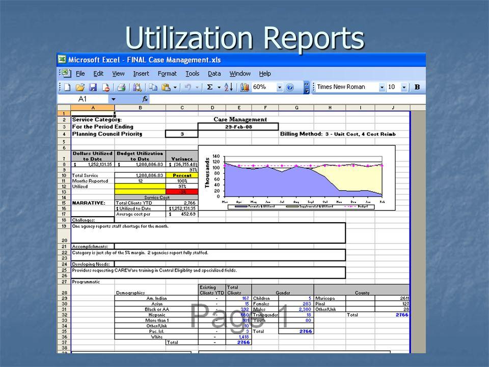 Utilization Reports