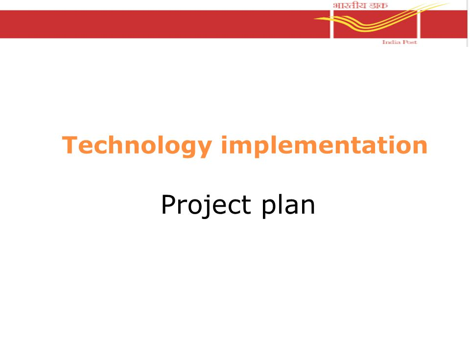 Technology implementation Project plan
