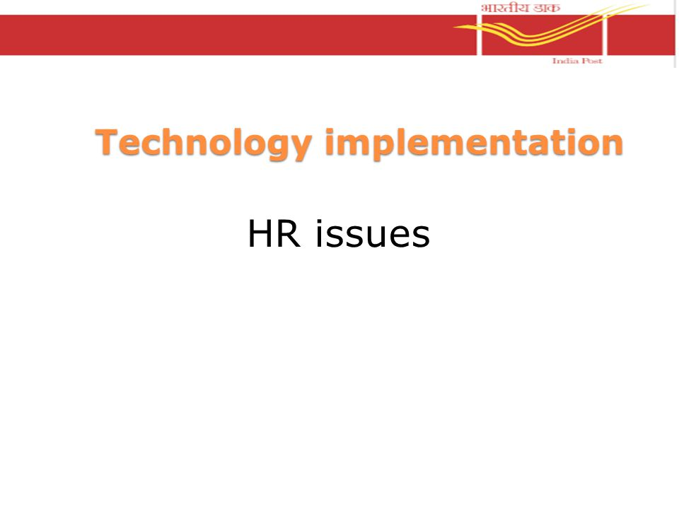 Technology implementation HR issues