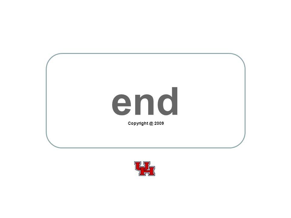 end Copyright @ 2009