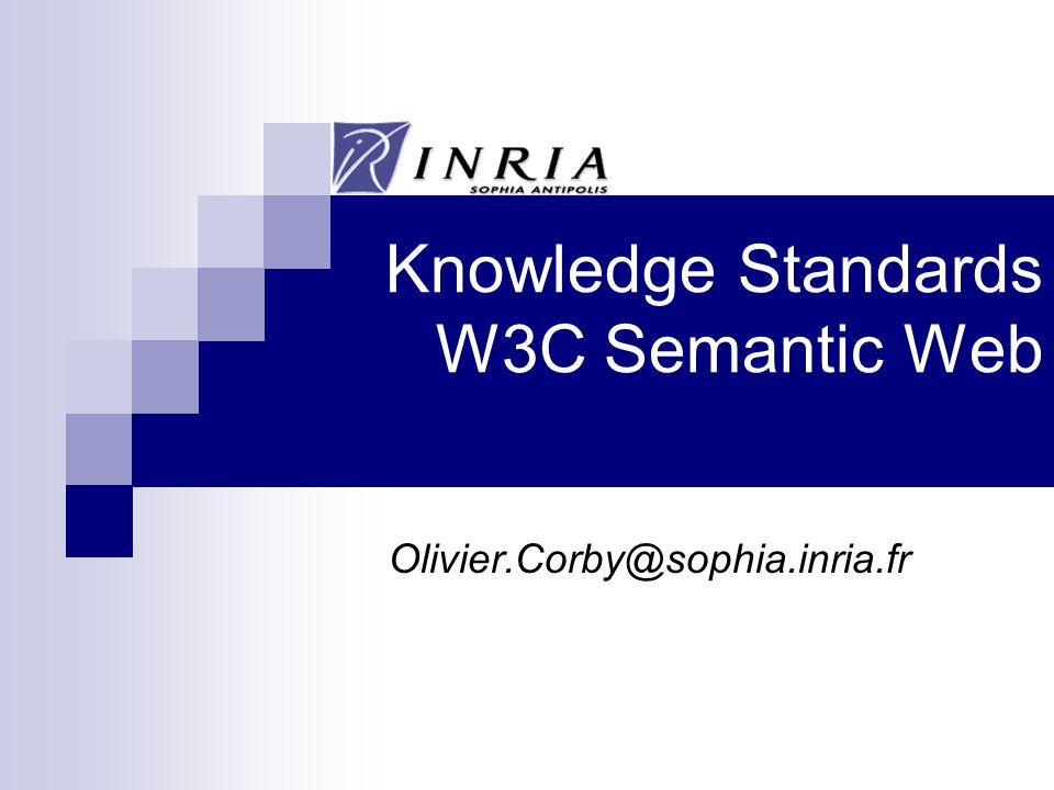 Knowledge Standards W3C Semantic Web Olivier.Corby@sophia.inria.fr