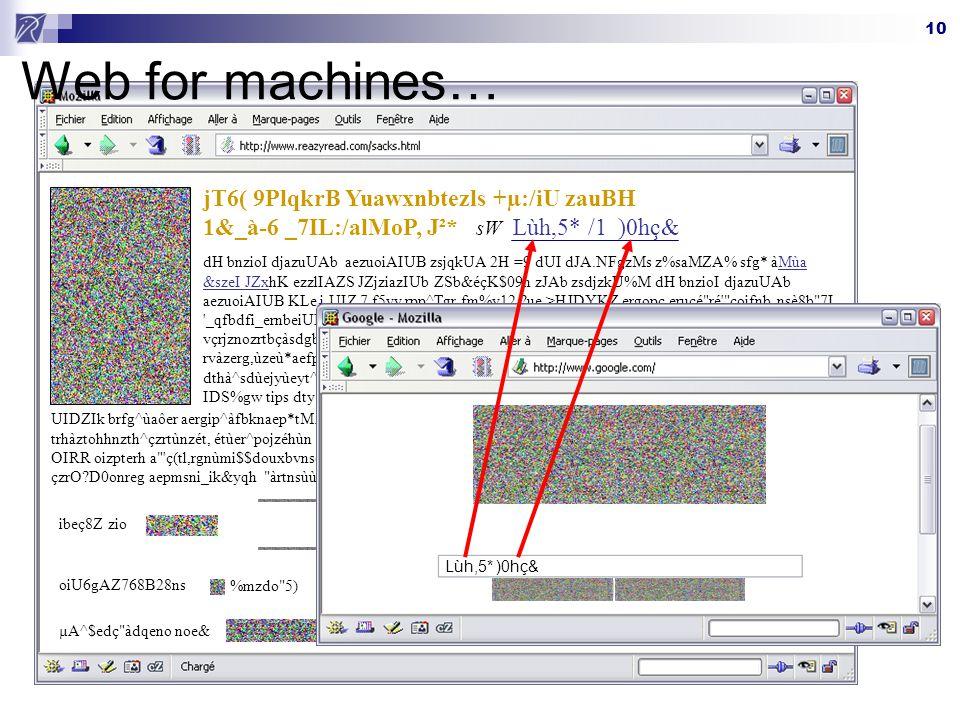 10 Web for machines… jT6( 9PlqkrB Yuawxnbtezls +µ:/iU zauBH 1&_à-6 _7IL:/alMoP, J²* sW dH bnzioI djazuUAb aezuoiAIUB zsjqkUA 2H =9 dUI dJA.NFgzMs z%sa