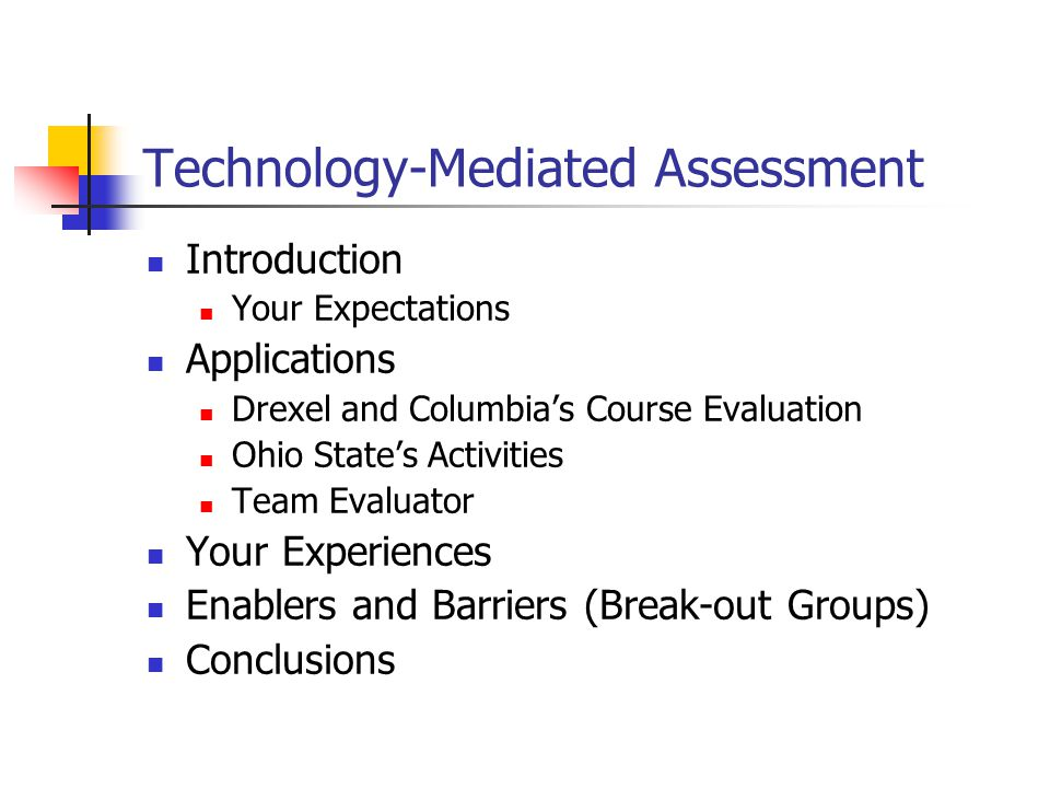 Introduction Reasons for Online-Assessment Common Applications Design and Development Things to Think About