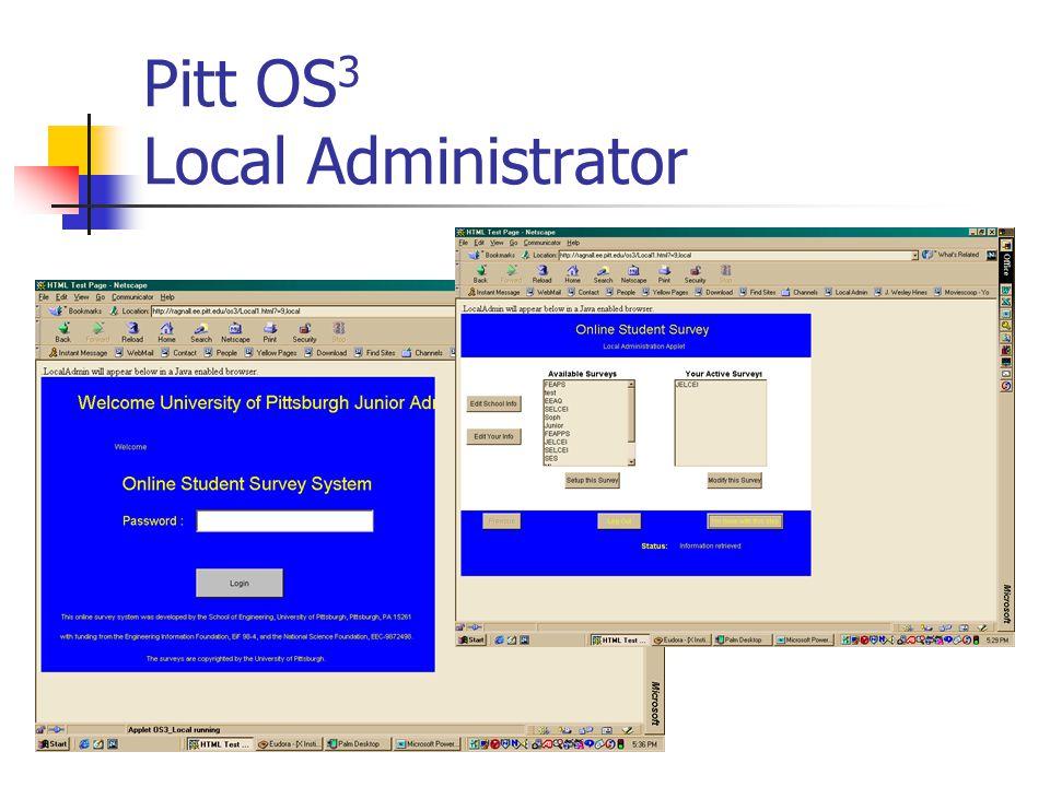 Pitt OS 3 Local Administrator