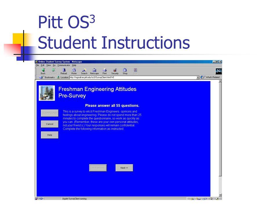Pitt OS 3 Student Instructions