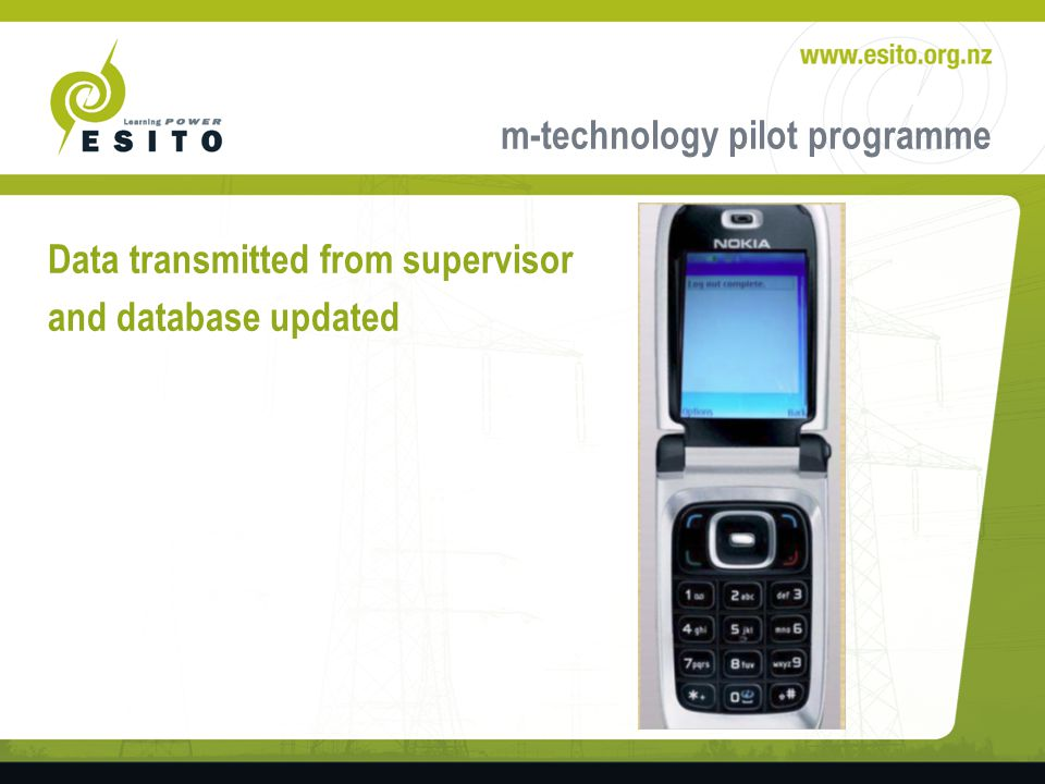 m-technology pilot programme Data transmitted from supervisor and database updated
