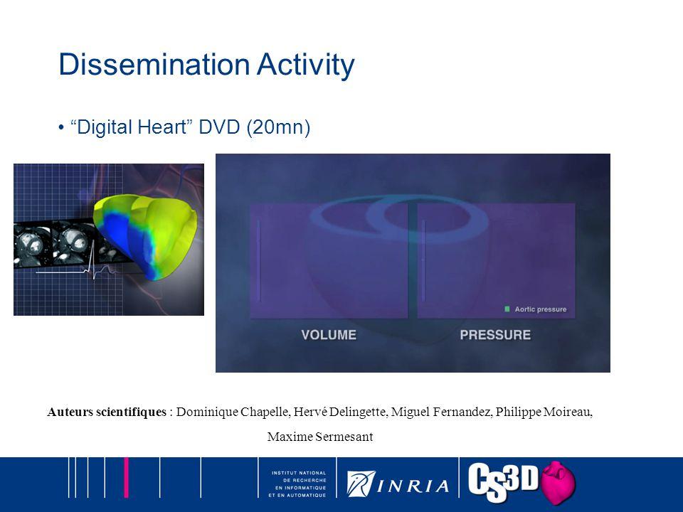 Dissemination Activity Digital Heart DVD (20mn) Auteurs scientifiques : Dominique Chapelle, Hervé Delingette, Miguel Fernandez, Philippe Moireau, Maxi