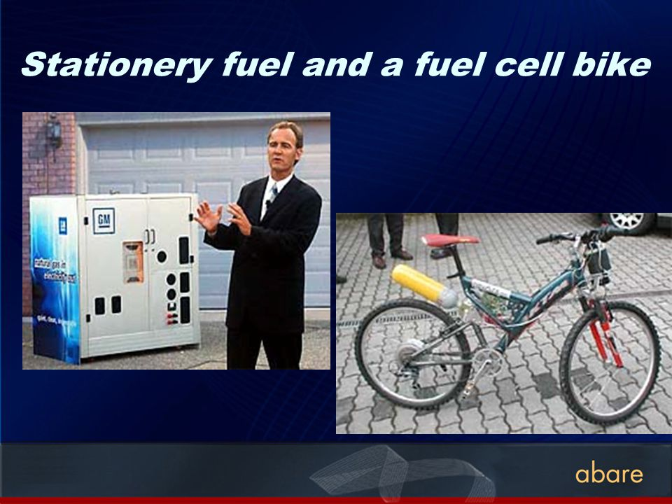 Stationery fuel and a fuel cell bike