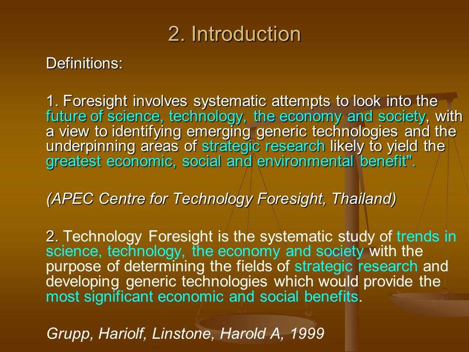 2. Introduction Definitions: Definitions: 1.