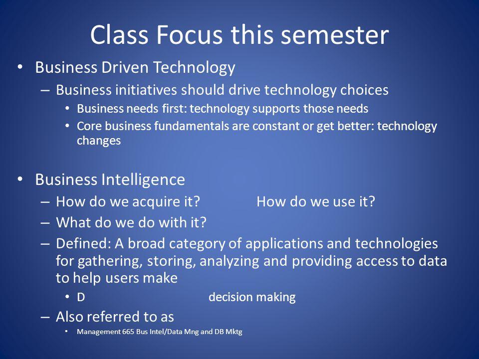Chapter 1 Business Driven Technology MANGT 366 Information Technology for Business Chapter 1: Management Information Systems: Business Driven MIS