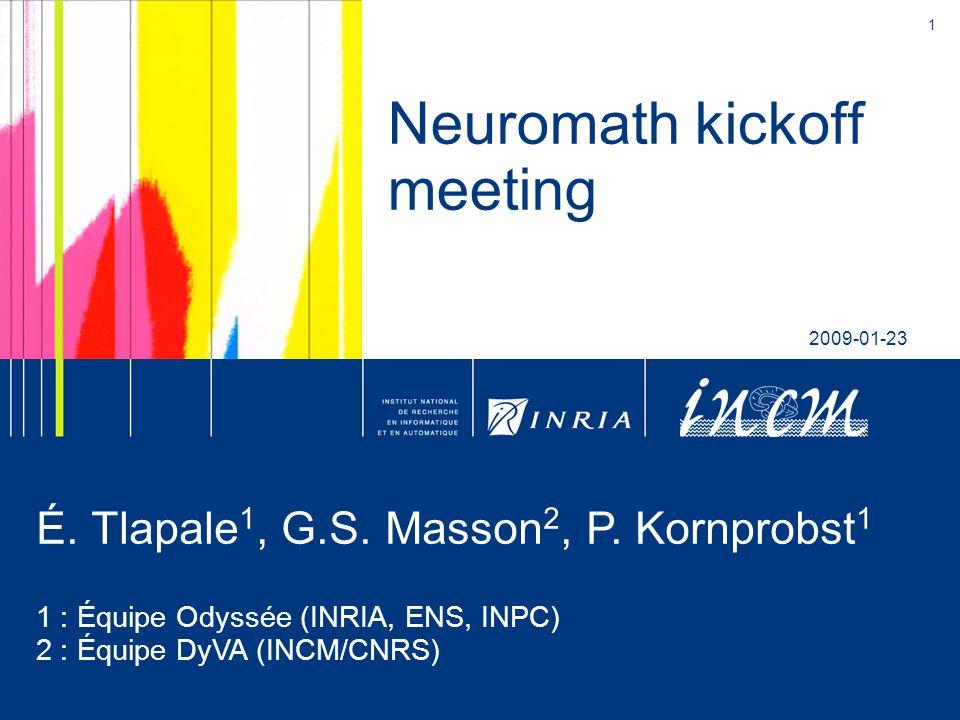 1 Neuromath kickoff meeting 2009-01-23 É. Tlapale 1, G.S.