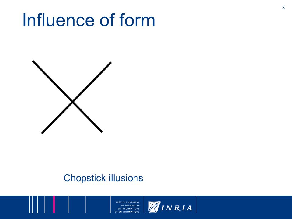 3 Influence of form Chopstick illusions