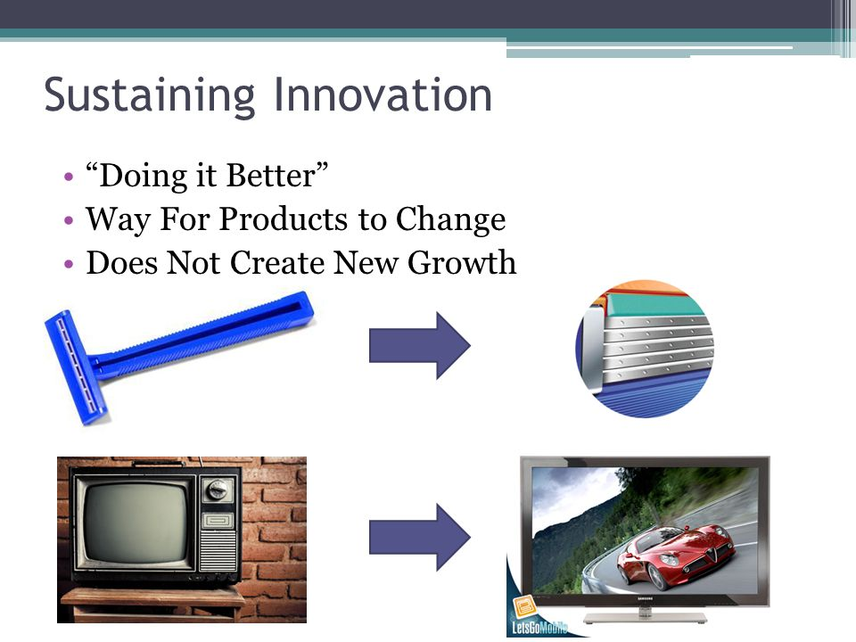 Sustaining Innovation Doing it Better Way For Products to Change Does Not Create New Growth