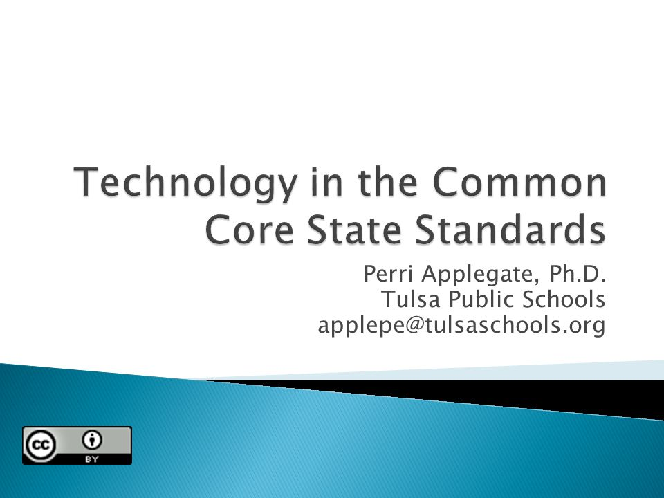 Perri Applegate, Ph.D. Tulsa Public Schools applepe@tulsaschools.org