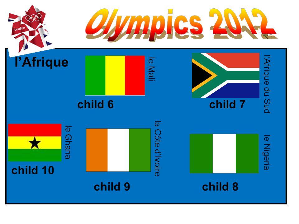 les Etats-Unis la Jamaïque le Brésil le Mexique child 1 child 3 child 4 child 2 lAmérique le Canada child 5