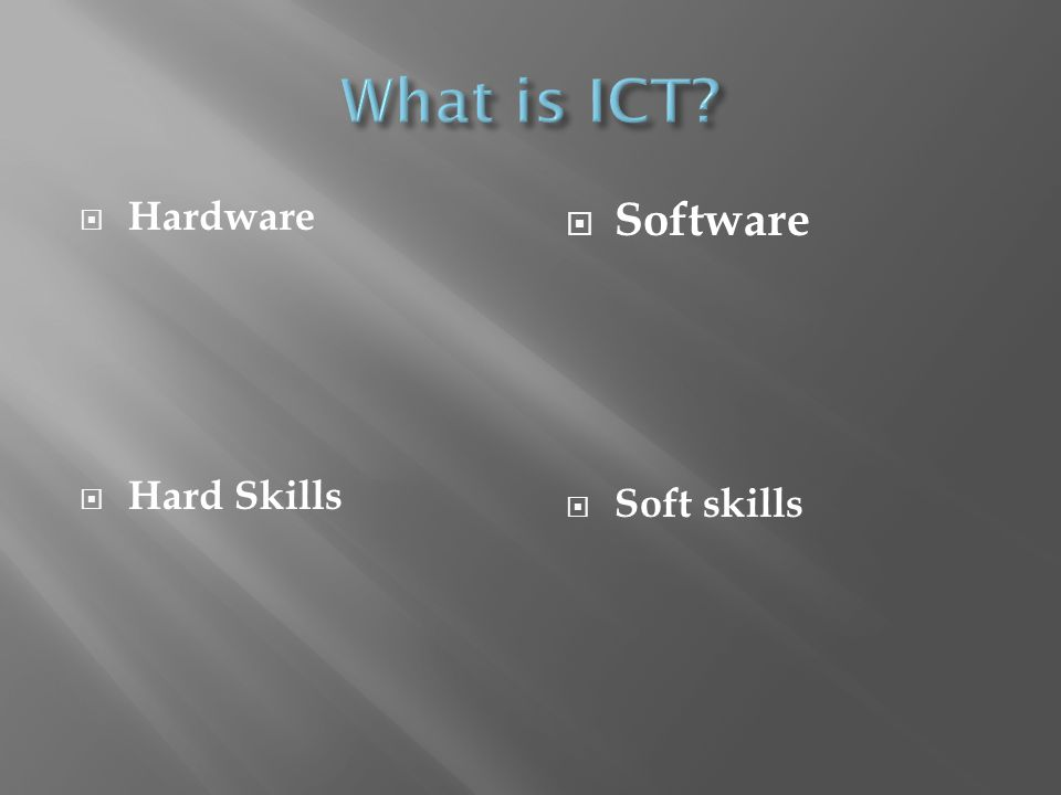 Hardware Hard Skills Software Soft skills