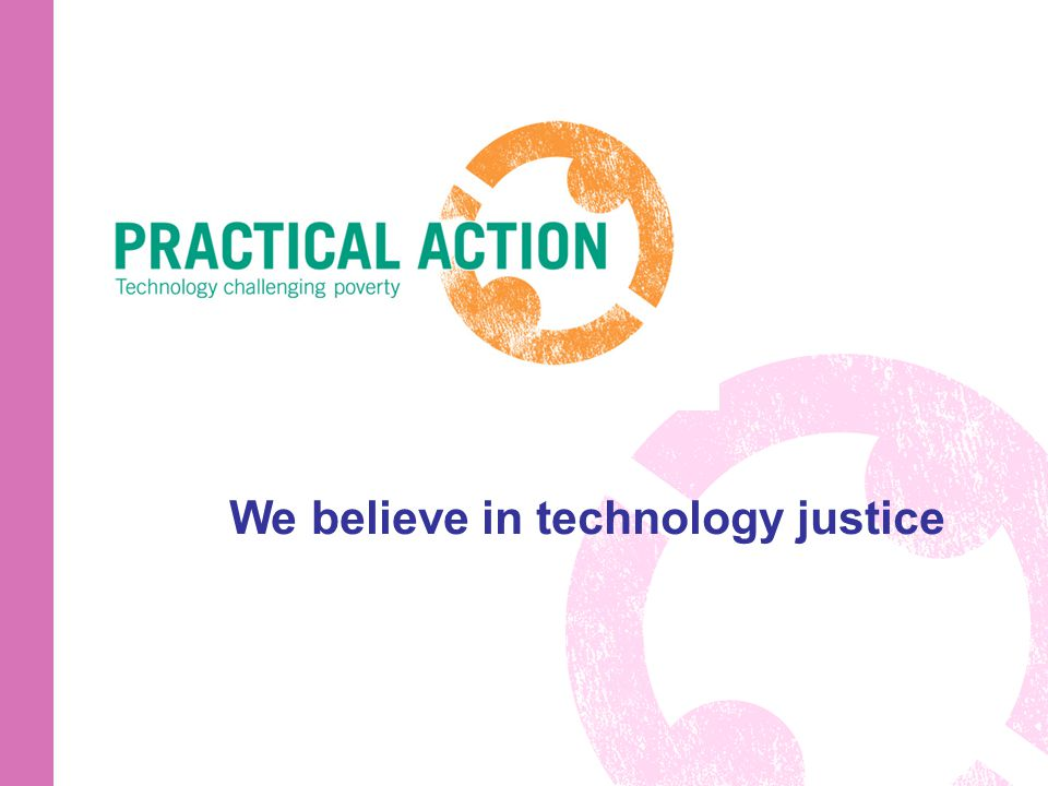 We believe in technology justice