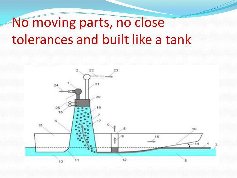 No moving parts, no close tolerances and built like a tank