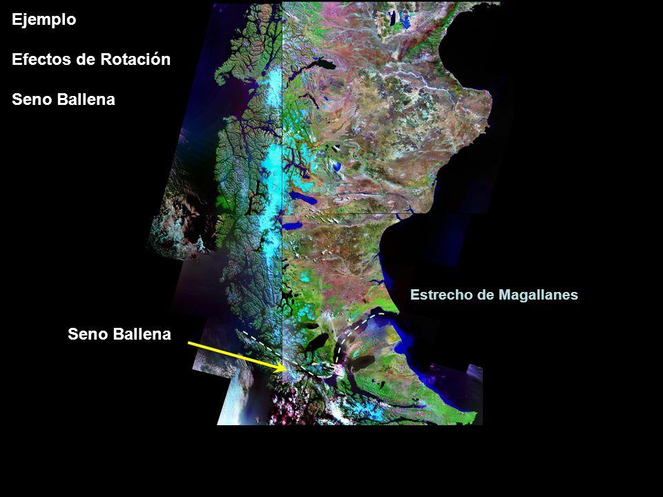 Seno Ballena Estrecho de Magallanes Ejemplo Efectos de Rotación Seno Ballena