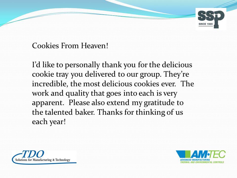 Cookies From Heaven.