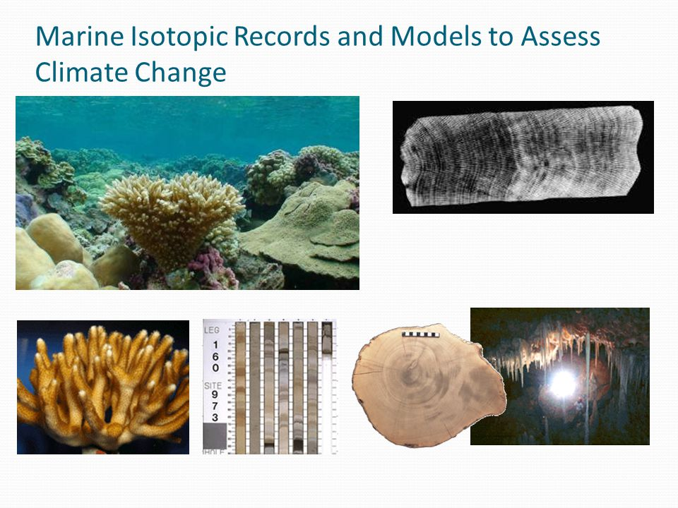Marine Isotopic Records and Models to Assess Climate Change