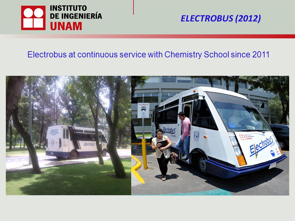 ELECTROBUS (2012) Electrobus at continuous service with Chemistry School since 2011