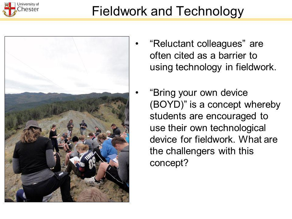 Fieldwork and Technology Reluctant colleagues are often cited as a barrier to using technology in fieldwork.