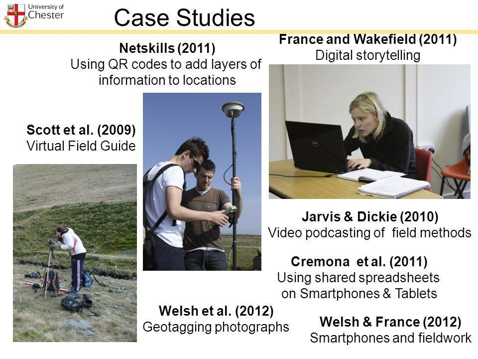 Jarvis & Dickie (2010) Video podcasting of field methods Scott et al.