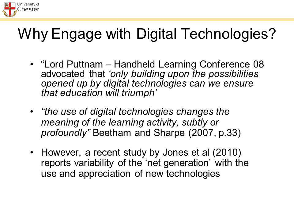 Why Engage with Digital Technologies.