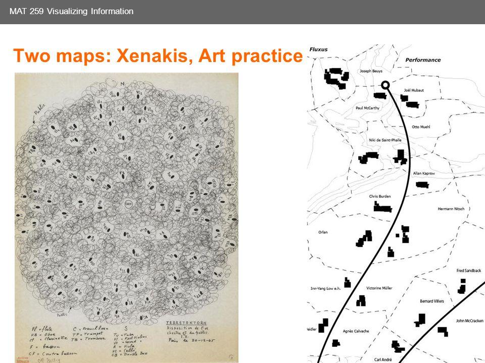 Media Arts and Technology Graduate Program UC Santa Barbara MAT 259 Visualizing Information Two maps: Xenakis, Art practice