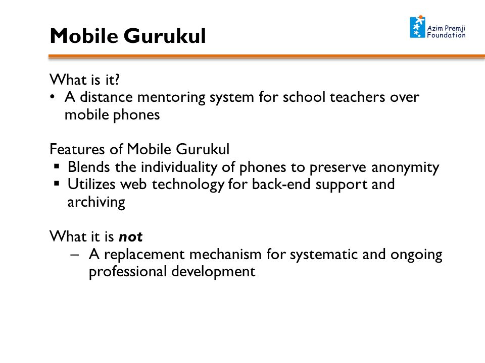 Mobile Gurukul What is it.
